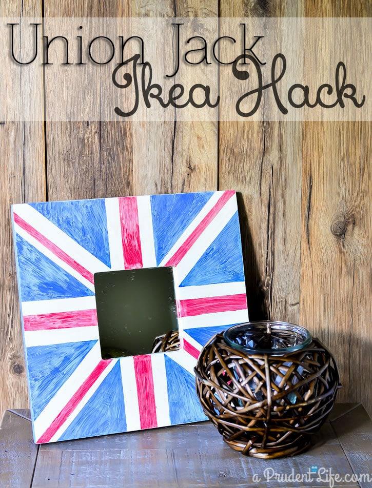 Anthropologie inspired Union Jack IKEA MALMA hack