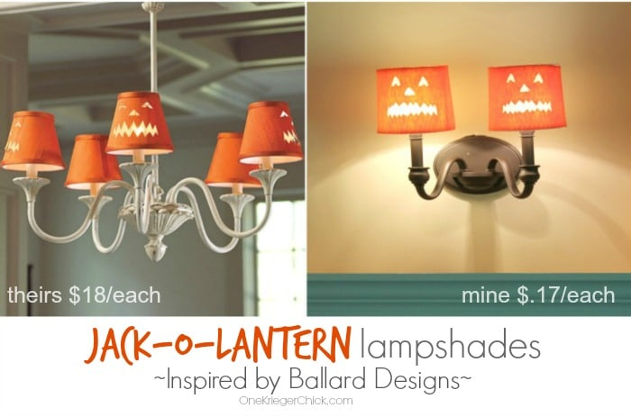 Ballard Designs Inspired Jack-O-Lantern Lampshade - Save 99%!