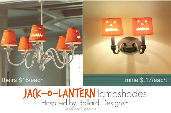 Ballard Designs Inspired Jack-O-Lantern Lampshade - Save 99%!