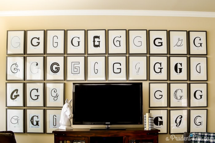 DIY Typography Gallery Wall