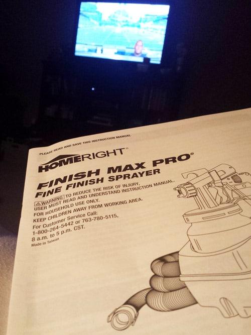 HomeRight Finish Max Pro Instructions