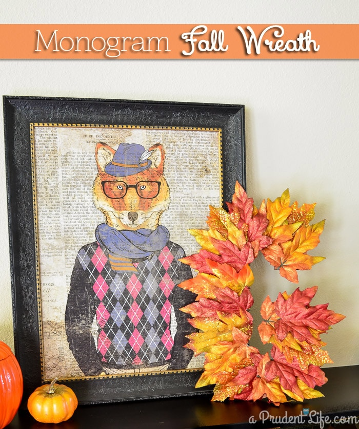I love this quick tutorial for a DIY monogram fall wreath