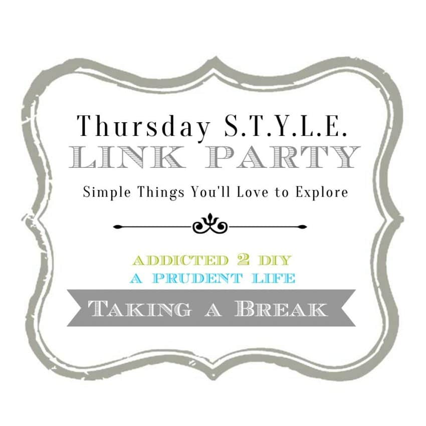 Thursday STYLE Link Party – Pausing the Party
