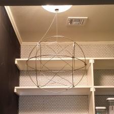 DIY Orb Style Light Fixture