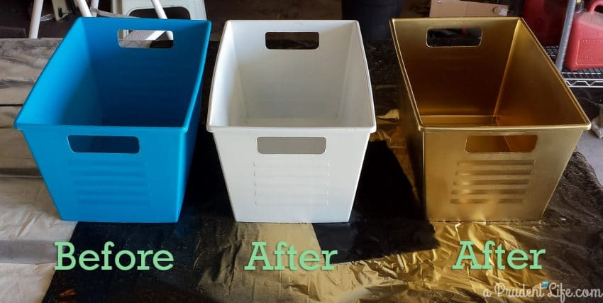 Painted Dollar Tree Containers