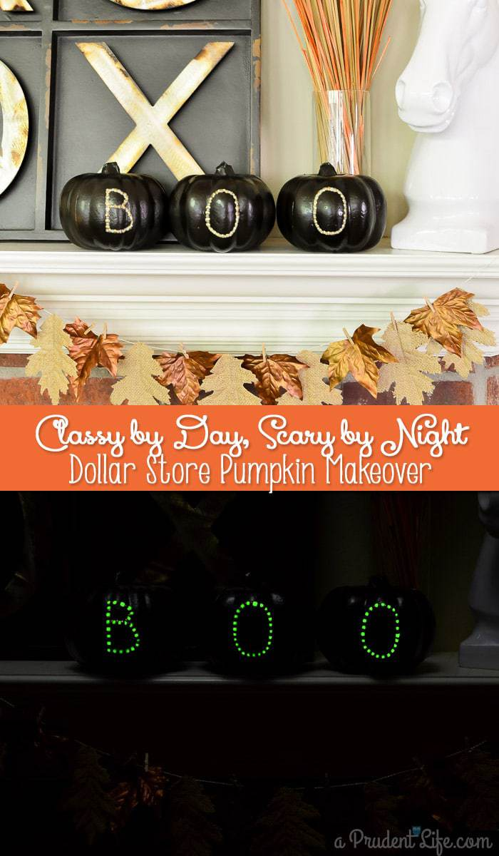 Classy by day, scary by night pumpkin makeover