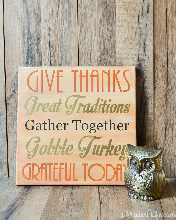 Thanksgiving DIY Mantel Art