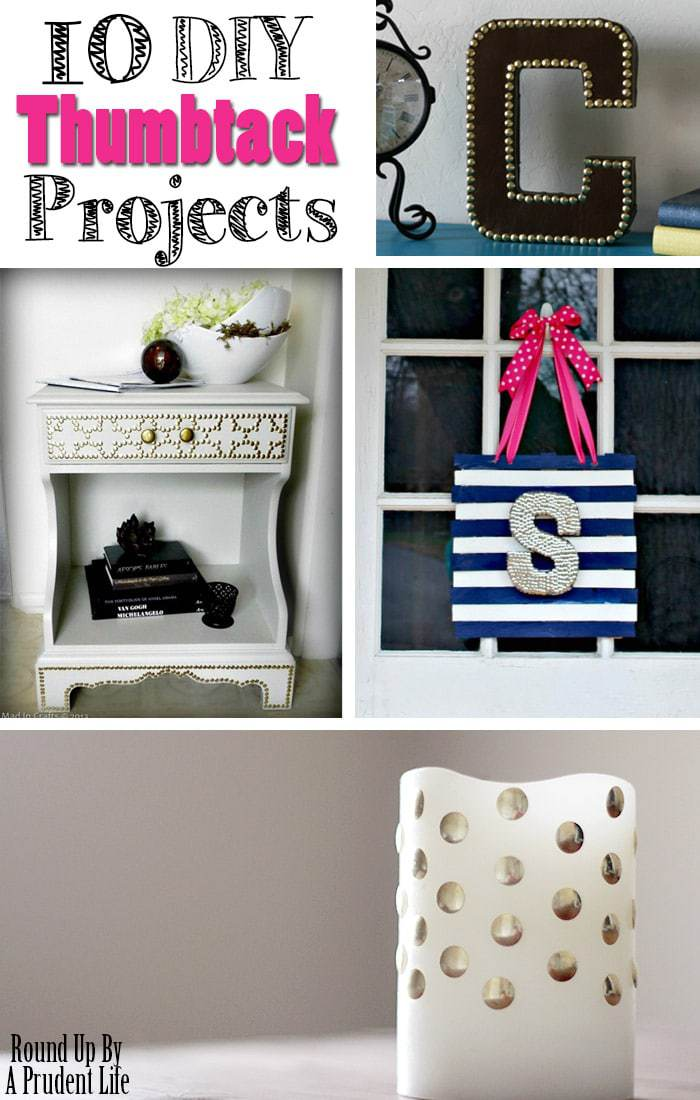 10 Frugal Ways to Add Metallic Touches to your Decor with Thumbtacks