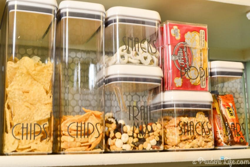 Use Flip-Tite Storage Containers for Snacks in the Pantry