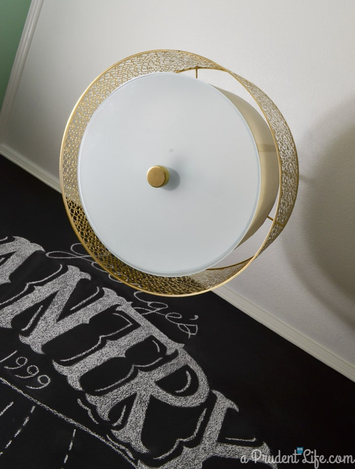 Lowe's Portfolio Drum Pendant painted gold