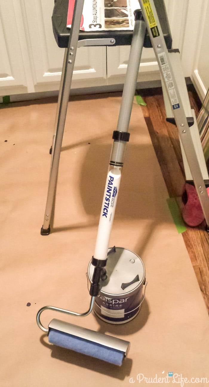 The HomeRight PaintStick mini handle makes painting small rooms easy.