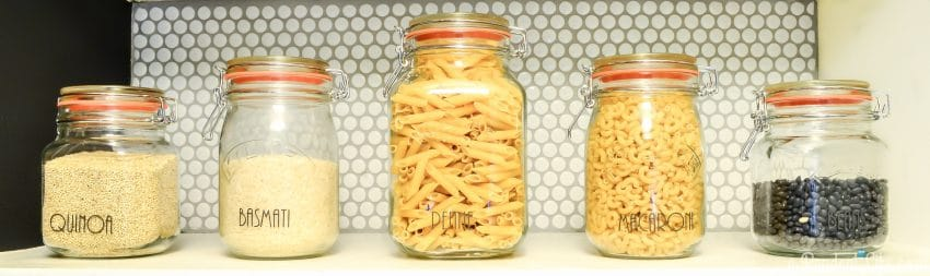 Organized Pantry Storage for Dried Goods - Pasta, Rice, & Beans