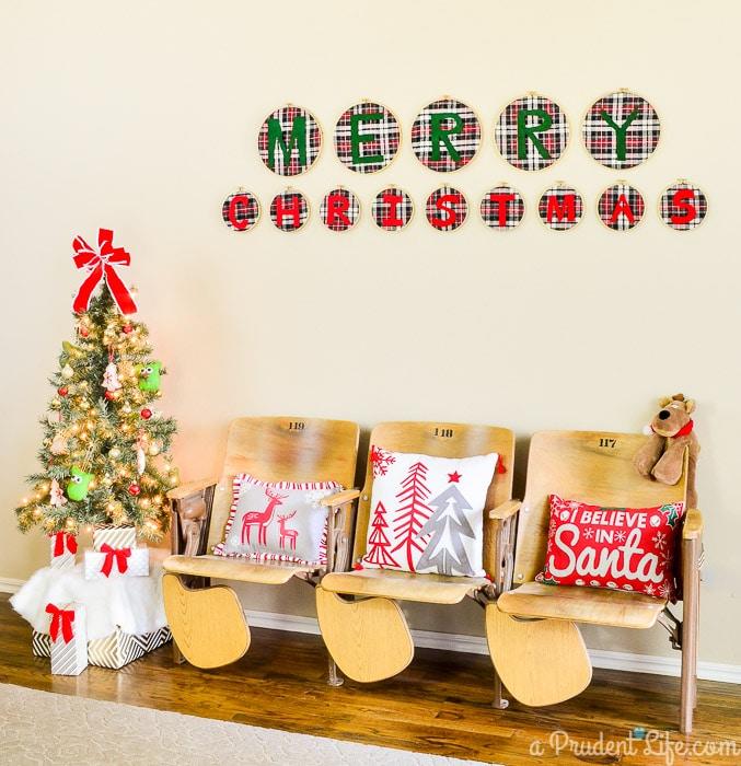 Vintage Christmas Entry Way