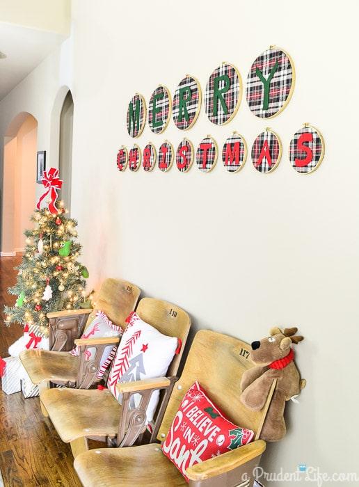Christmas Entry Way Decor