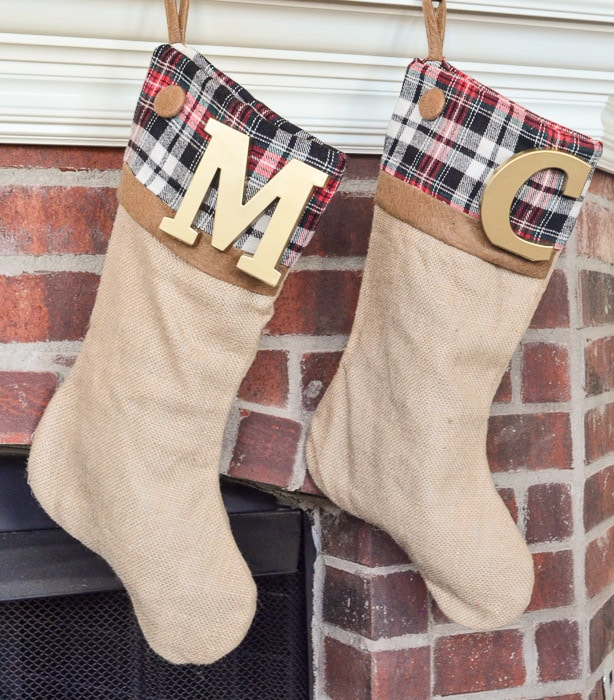 These DIY Stockings have a secret - they were made in 5 minutes!