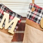Anyone can make these plaid accent Christmas stockings - you won't believe how easy it is!