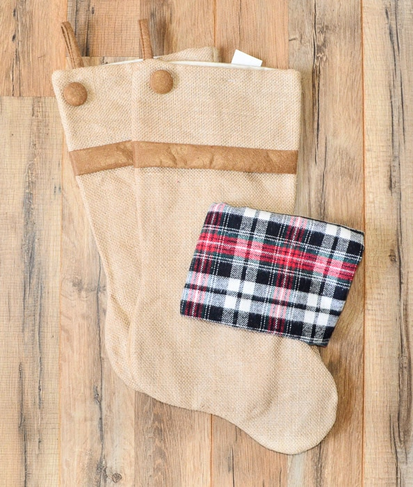 Semi Homemade Plaid Christmas Stockings