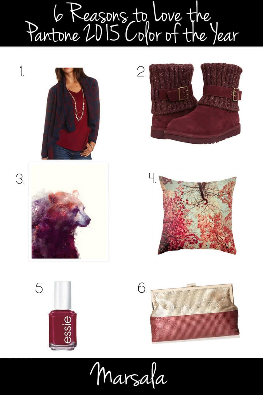 6 Reasons To Love Marsala 2015 Pantone Color Of The Year Polished Habitat