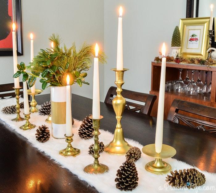 Dining Room Christmas Table Runner