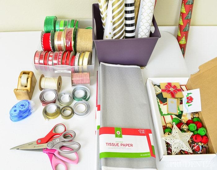Organized Gift Wrapping Station Polished Habitat
