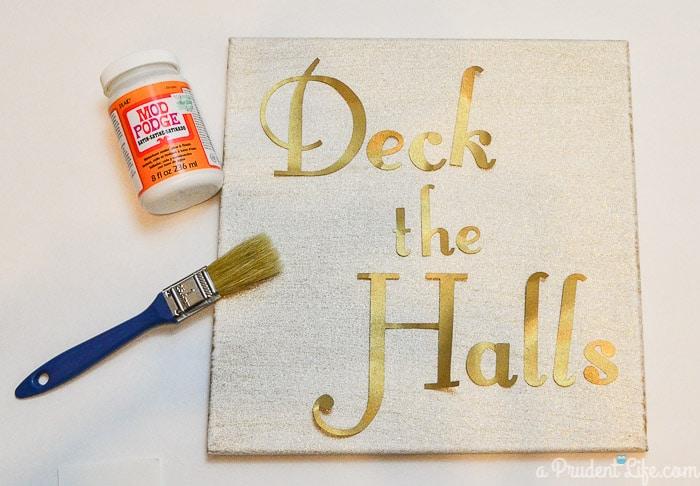 Gold Deck the Halls Christmas Art