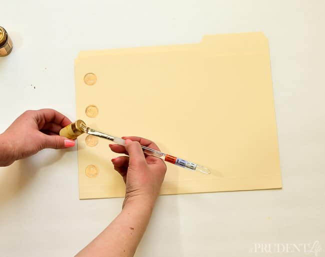 Gold dot folders are expensive - DIY your own with gold leaf!