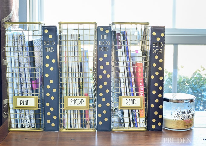 Nate Berkus magazine files & DIY binders