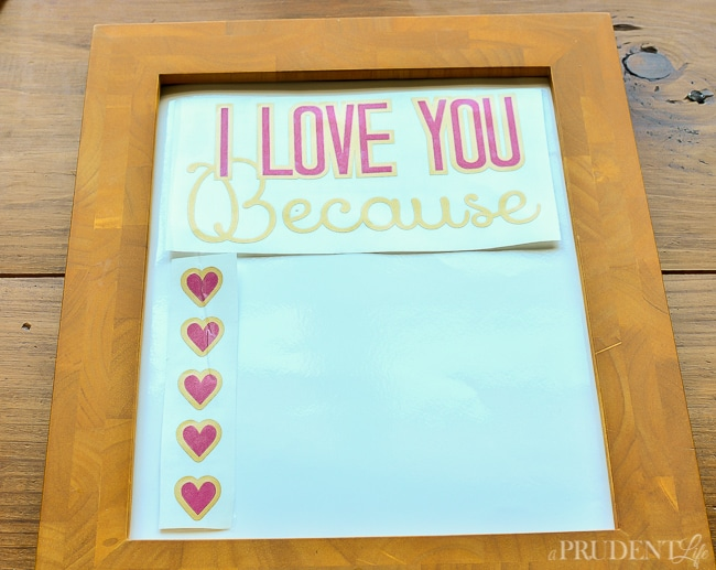 I Love You Because Dry Erase Sign-15