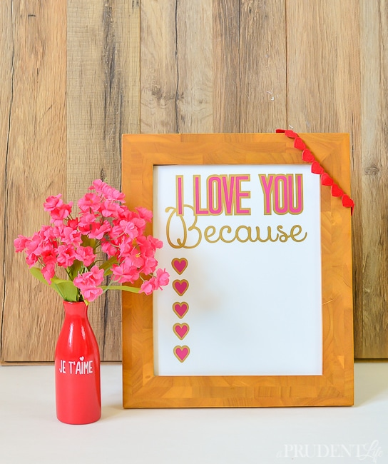 I Love You Because Dry Erase Sign-18