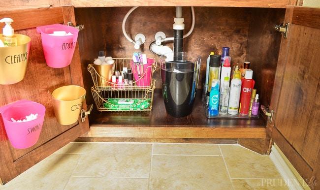 I finally organized my bathroom vanity cabinet
