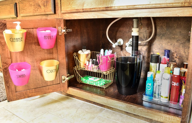 organize bathroom sink cabinet bathroom organization the sink tips side 1 19808