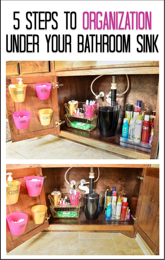 how to organize under your bathroom sink bathroom organization the sink tips polished habitat 26161