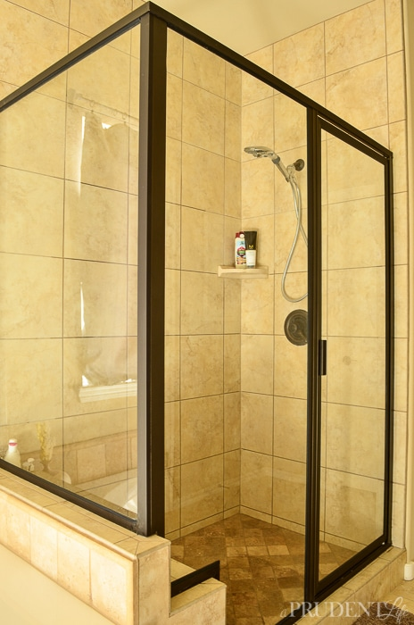 How To Clean Shower Doors With Hard Water Stains Polished Habitat