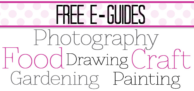 Learning a new skill doesn't have to cost anything! Craftsy is offering free guides for  all kinds of creative hobbies. The photography one is excellent!