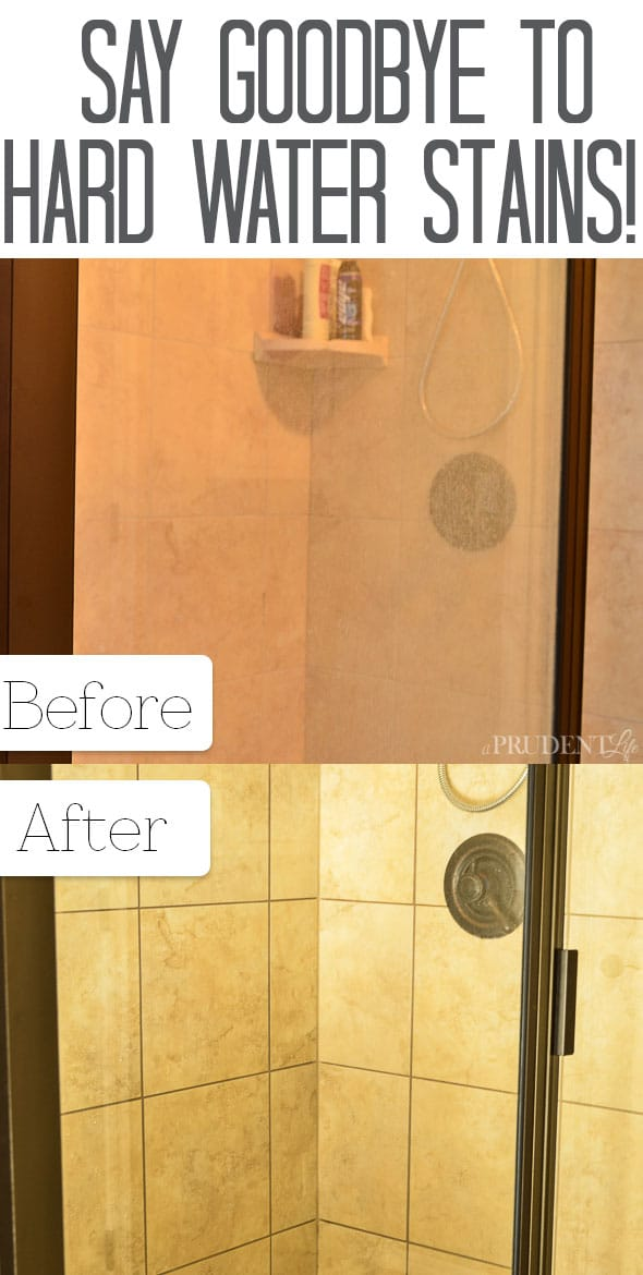How to clean hard water off glass shower doors without chemicals ...