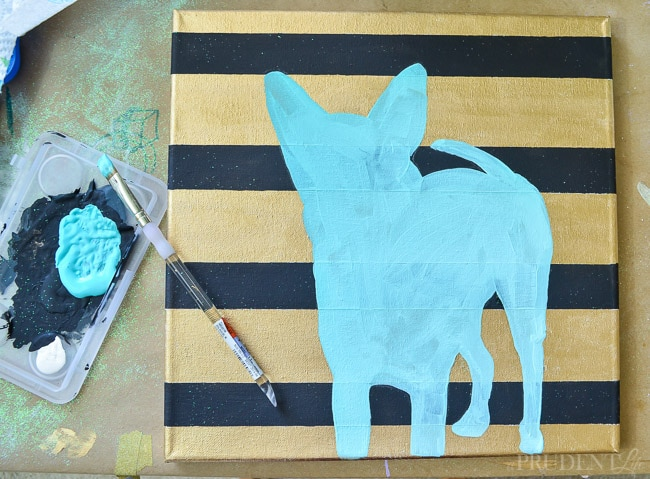 Painting a pet silhouette