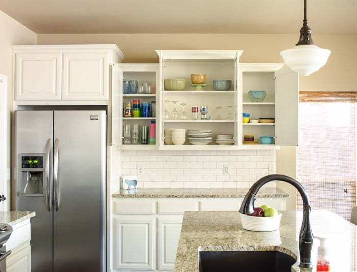 Kitchen cabinet organization ideas from PolishedHabitat.com