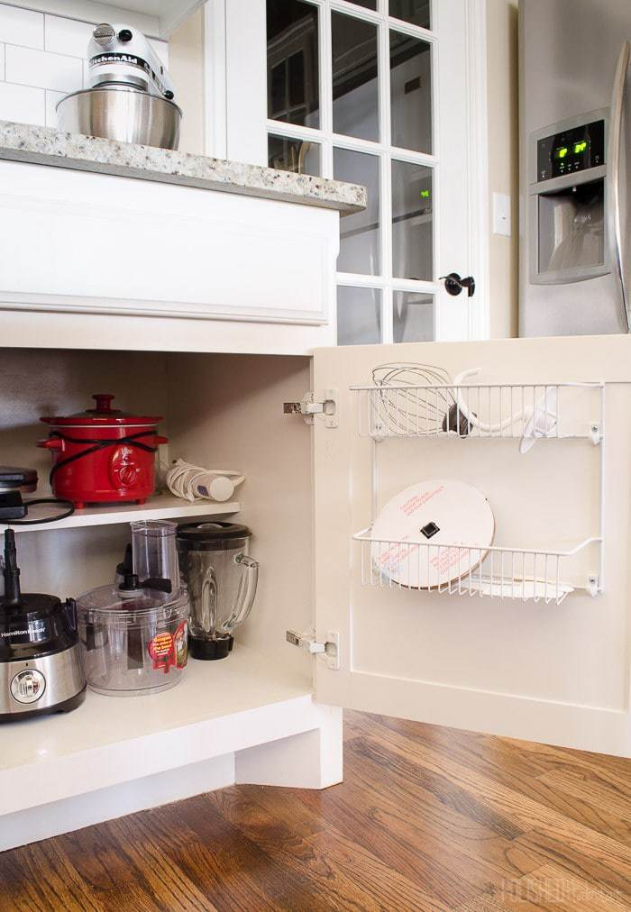 Donu0027t Overlook Cabinet Doors When Organizing A Kitchen. Inexpensive Wire  Shelves Are Great