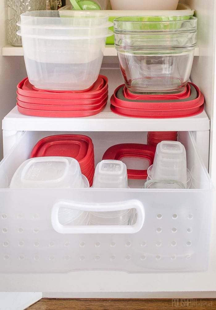No more messy Tupperware! Love these kitchen organization ideas from PolishedHabitat.com