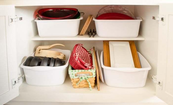 Kitchen cabinet organization ideas from PolishedHabitat.com