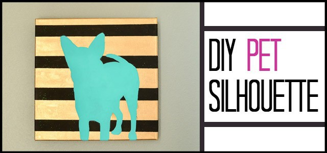 Paint a Silhouette of YOUR dog - without pulling your hair out like I did!