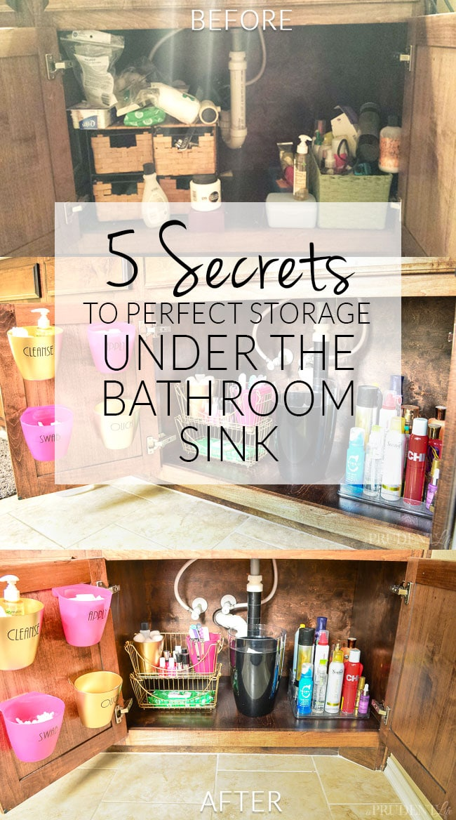 Have a mess under the bathroom sink? Try these quick tips for getting it under control once and for all.