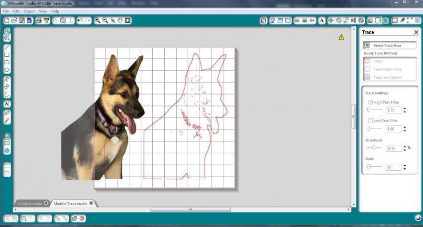 Using Trace in Silhouette Studio