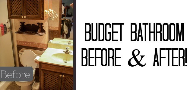Budget Bathroom Makeover Before & After {Our Old House}