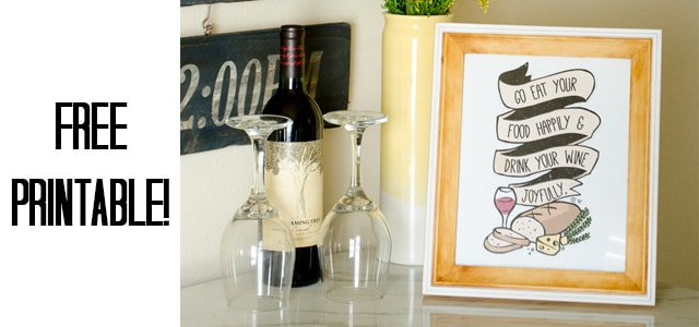 This food and wine printable would make a great gift!