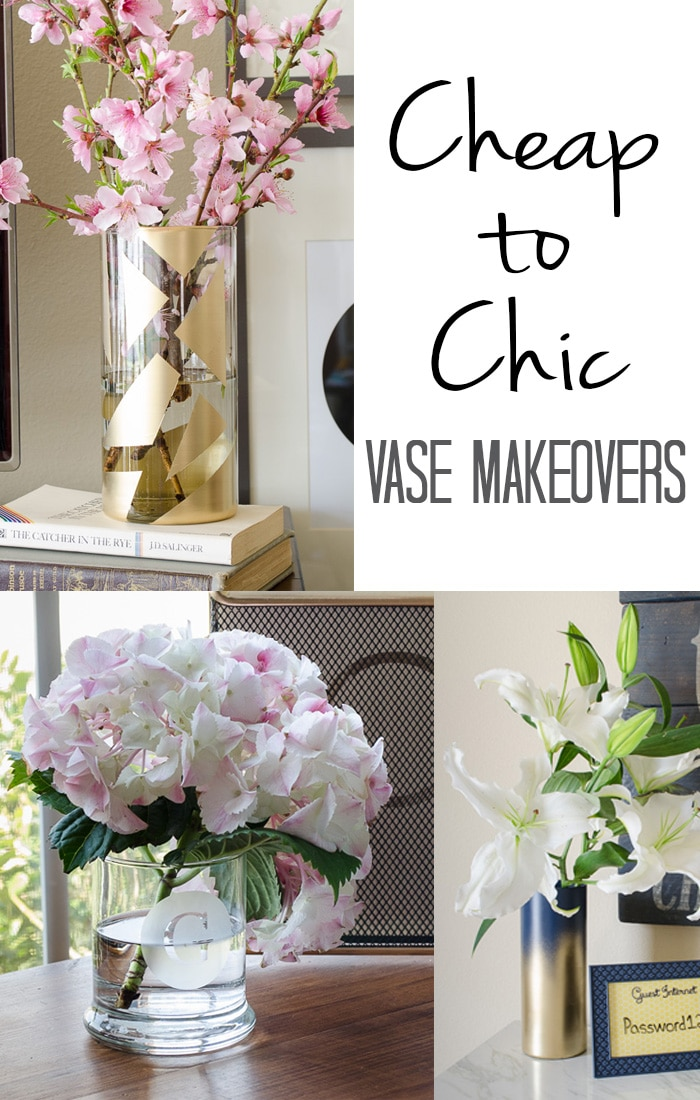 Cheap to chic vase makeovers polished habitat for Cheap chic home decor