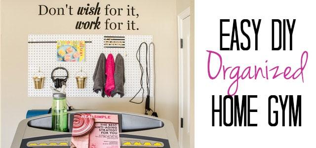 Organized Home Gym {How to Turn a Corner to a Mini-Gym}