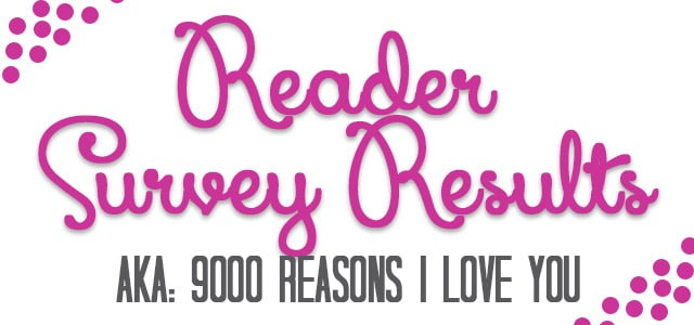 Reader Survey Results & Related Ramblings
