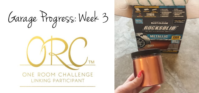 Bringin' Sexy Copper To the Garage Week 3 {One Room Challenge}