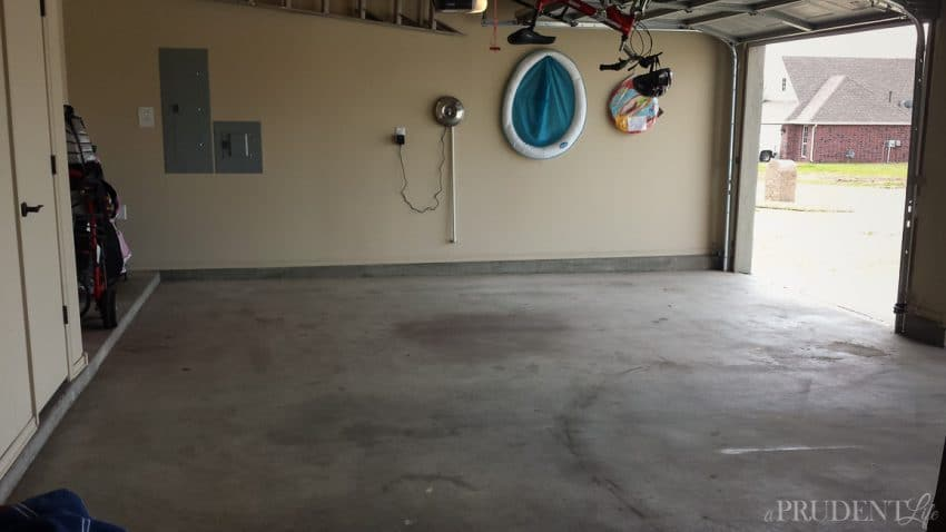 Progress in the Garage - Week 2 of the One Room Challenge at A Prudent Life